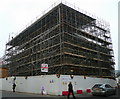 SO5012 : Monmouth town hall is under all that scaffolding! by Jonathan Billinger