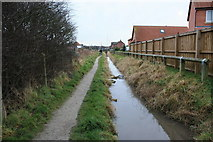 SD3648 : Polluted Ditch and Public Footpath by Bob Jenkins