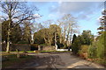 ST5290 : Road junction by Mathern Church by Ruth Sharville