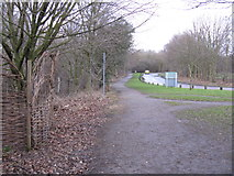 SJ8092 : Sale Water Park - Access Road by Peter Whatley