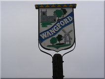 TM4679 : Wangford Village Sign by Adrian Cable