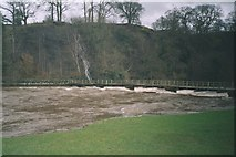 SE0754 : River  Wharfe  in  Flood  at  Bolton  Abbey by Martin Dawes