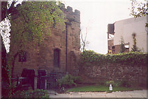 SP3379 : Swanswell Gate and city wall by E Gammie