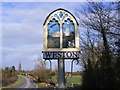 TM4287 : Weston Village Sign by Adrian Cable