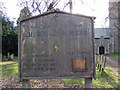 TM4287 : St.Peter's Church, Weston, Notice Board by Adrian Cable