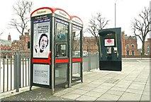 J3372 : Telephone boxes, Belfast by Albert Bridge