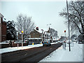 TQ4077 : Charlton Road in the snow - 1 by Stephen Craven
