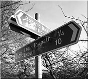 J3472 : Sign by the River Lagan by Rossographer