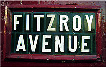 J3472 : Street sign, Fitzroy Avenue by Rossographer