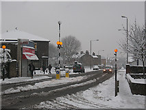 TQ4077 : Zebra crossing on Old Dover Road by Stephen Craven