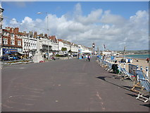 SY6879 : The Esplanade, Weymouth looking towards Jubilee Clock by Colin Park