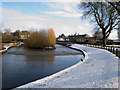 SJ9222 : River Sow, Victoria Park, Stafford. by Tim Marshall