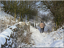 SK3455 : Footpath along Crich Stand by Alan Murray-Rust