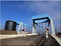 TA1031 : Clough Road Twin Lift Bridges over the River Hull by Andy Beecroft