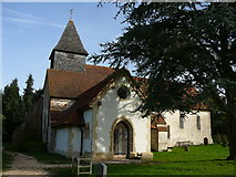 SU6462 : Church at the Roman Town, Silchester by Colin Park