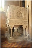 SK8572 : St.Helen's pulpit by Richard Croft