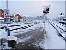 SX9193 : Snow, Exeter St David's by Derek Harper