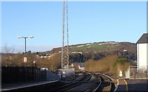 SS7597 : Railway line leaving Neath Station by Ruth Sharville