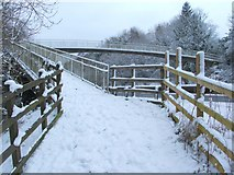 NS3878 : Footbridge over the A82 by Lairich Rig