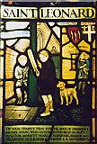 TQ2882 : Everyday details in stained glass window (Marylebone) by Zorba the Geek