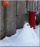 HP6208 : Snowman at Baltasound Post Office by Mike Pennington
