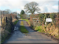 ST0675 : Entrance to Caerwigau Uchaf Farm by Mick Lobb