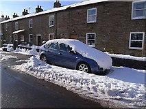 NY7441 : Snowbound car in Garrigill by Oliver Dixon