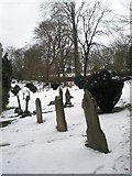 SU9948 : Sloping gravestones in Guildford Cemetery by Basher Eyre