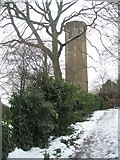 SU9948 : The Tower in the corner of Guildford Cemetery by Basher Eyre