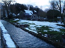 SP1106 : Bibury after snowfall at dusk by andy dolman