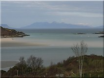 NM6793 : The mouth of the Morar by AlastairG