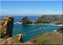 SW6813 : Kynance Cove with Gull Rock and Asparagus Island by Mick Lobb