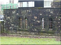 NS3975 : Dumbarton Prison - two original cell windows by Lairich Rig
