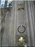 SU4829 : Memorials to soldiers of the Rifle Brigade on the north wall at Winchester Cathedral by Basher Eyre