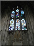 SU4829 : Inspirational stained glass window on the north wall at Winchester Cathedral by Basher Eyre