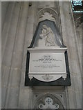 SU4829 : Memorial to a medical man on the north wall at Winchester Cathedral by Basher Eyre