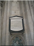 SU4829 : Memorial to a country parson on the north wall at Winchester Cathedral by Basher Eyre