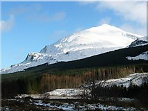 NN2327 : Beinn Chuirn from the A85 carpark by Johnny Durnan