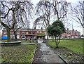 SJ9295 : Town Lane Lychgate by Gerald England