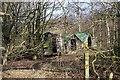 SO7943 : Hen houses near Lower Arles Wood by Bob Embleton