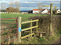 SK6444 : Stile and signpost by Alan Murray-Rust