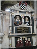 SU3521 : Lifelike memorials within the south transept at Romsey Abbey by Basher Eyre