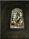 SU3521 : Stained glass window on the north wall at Romsey Abbey by Basher Eyre