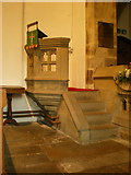 SD9772 : St Mary's Church, Kettlewell, Pulpit by Alexander P Kapp