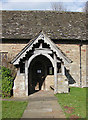 SO4510 : South porch, St. Dingat's by Pauline E