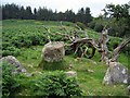 NZ0393 : Fontburn Reservoir four poster stone circle by Andrew Curtis