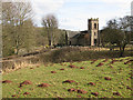 SO4510 : St. Dingat's from Dingestow Castle Mound by Pauline E