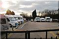TQ7326 : Caravan Dealership, London Road, Hurst Green by Oast House Archive
