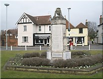 SU9877 : Datchet War Memorial with the Ecumenical Centre in the background by Basher Eyre