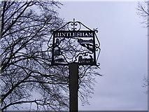 TM0843 : Hintlesham Village Sign by Geographer
